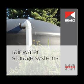 Good Repair Guide: Rainwater storage systems