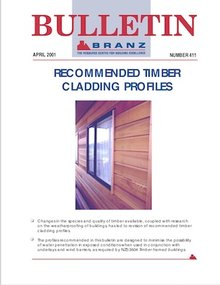 BU411 Recommended timber cladding profiles