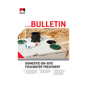 BU637 Domestic on-site foulwater treatment
