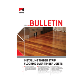 BU645 Installing timber strip flooring over timber joists