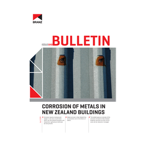 BU649 Corrosion of metals in New Zealand buildings
