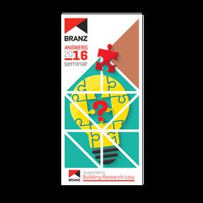 Seminar: BRANZ Answers 2016