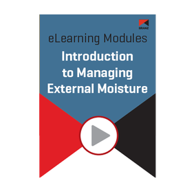 Module: Introduction to managing external moisture