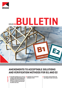 BU652 Amendments to Acceptable Solutions and Verification Methods for B1 and E2